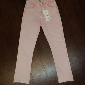 Pink Zara stretch smile fit Jean's size 4